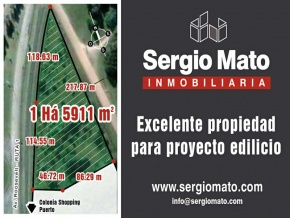 Excellent property for a project building complex, for sale in Colonia del Sacramento, Shopping area