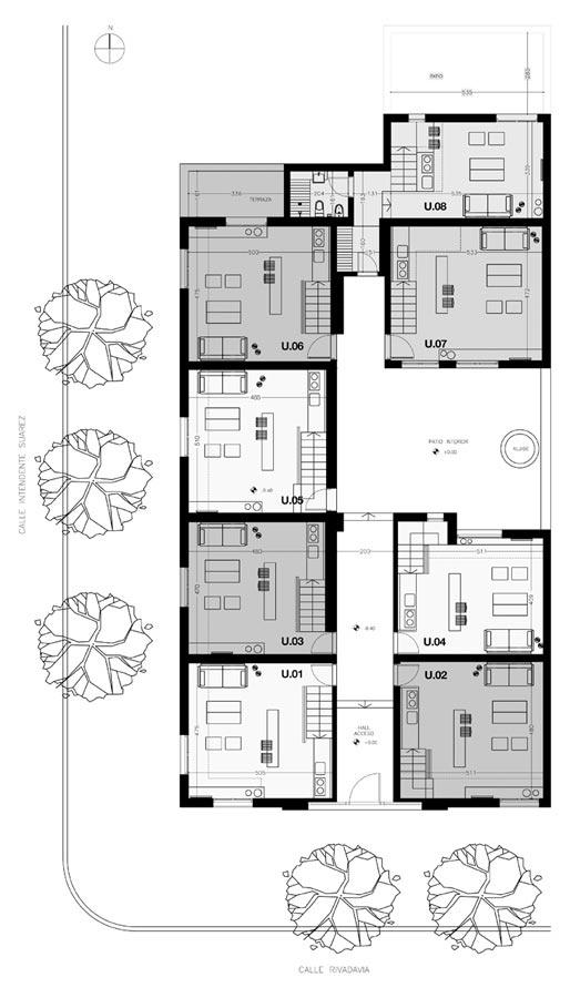 El patio de las glicinas 8 apartamentos de estilo - Plantas para patio interior ...