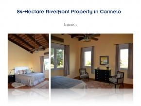 Campo de 84 hectares em venda, com excelente casa e 680 metros de litoral sobre o Arroio das Vacas, Carmelo, Colonia