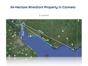208 Acres Field for sale, with excellent house and 750 yards of coast on Arroyo de Las Vacas in Carmelo, Colonia